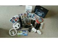 Wii black console SuperMariobros and more games