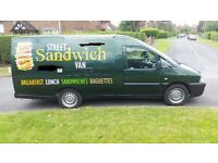 Sandwich jiffy van, hot and cold catering van, truck