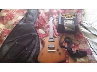 Ibanez IC200 'Iceman' - Marshall practice amp - Ritter case - lead+strap