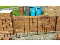 WROUGHT IRON DRIVE GATES
