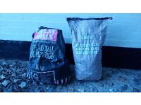 Briquettes & Charcoal - total weight approx. 10kg