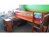 Kids Midsleeper bed with desk