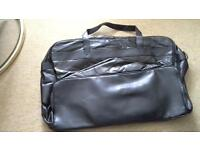 Travel bag NEW. Black leather.