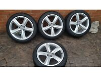 "GENUINE OEM ALLOY WHEELS AUDI S LINE 18"" A4 A5 A6 TT 8T0601025M 245 40 18 RONAL"