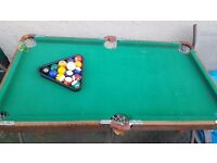 Tabletop Pool table for sale