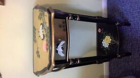 """Chinese style reproduction hall table, 20"""" wide, 32"""" high, 12"""" deep,cost £350 new,lovely condition"""