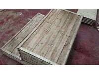 🌟Heavy Duty Waneylap Timber Fence Panels 8mm Boards