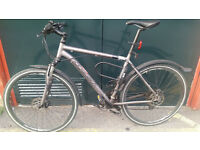 Ridgeback full front suspension hybrid bike - ideal street commuter or tow path tourer
