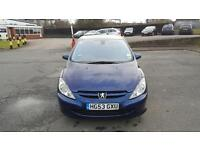 Peugeot 307 HDi Diesel 2.0 5 doors 2003 in good condition 1 year MOT