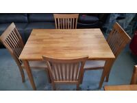 Ex Display Julian Bowen Cleo Dining Table & 4 Chairs Can Deliver View Collect Kirkby NG177