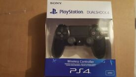 brand new boxed ps4 black controller