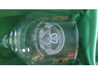 Irish claddagh glasses set of 6 brand new