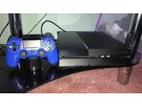 Black PS4 500gb with blue controller