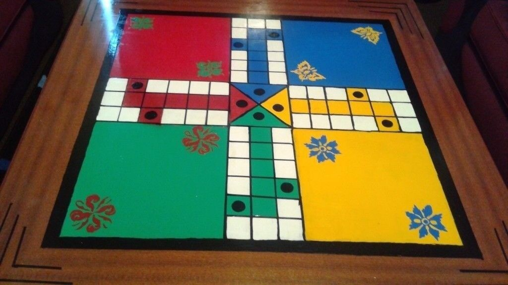 Ludo Game On Coffee Table