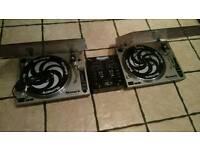 Dj gear 2x decks records numark & 1x mixer numark