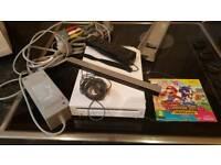 Nintendo Wii Console + Super Mario Game