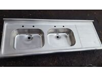 Kitchen Sink with double bowl and Bathroom Sinks in excellent condition