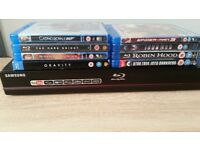 Samsung BD-P1620 Blu-ray Player 1gb you tube + 8 movies