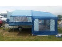 Pennine Fiesta 2 + 2 folding camper with matching awning in excellent all round condition