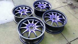 FOR SALE RARE SET OF VOLK RAYS CE28 ALLOYS WHEELS 4X100 JAP JDM LOOK CHEAP BARGAIN HONDA MX5 MR2