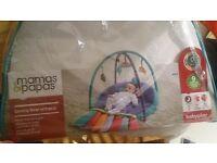 mamas and papas play activity matt with bag