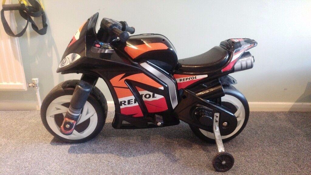 Injusa Repsol Wind 6V Electric Ride On Superbike Kids bike