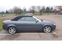 Audi a4 sport fsi convertible .Great condition Low mileage 62000 miles m.o.t not bmw or ford.