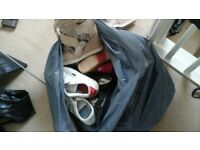 large bag of ladies shoes, trainers, size 5