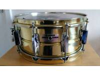 "Yamaha SD496 seamless Brass Snare Drum 6.5"" x 14"" , a classic amazing snare"