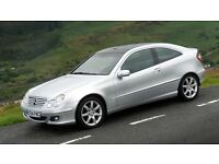 MERCEDES BENZ C320 SE SPORT COUPE 2004 SILVER AUTOMATIC PETROL PANORAMIC ROOF BARGAIN ONLY £3500