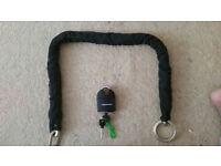 Motorbike Padlock and Chain