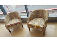 Two x Vintage and Retro Tub Chairs