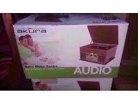Akura Brand New Retro style music center £49