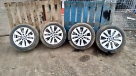 BMW Genuine 16'' alloy wheels and tyres 195/55/16 1 3 series E46 E90 E87