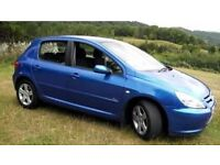 Peugeot 307 blue r well maintained serviced and mot till dec