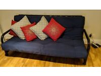 Futon Sofa Bed - Base with Mattress