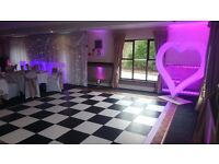 LED HEART or LOVE Letters or Dancefloor TO HIRE for WEDDING ENGAGEMENT MARQUEE