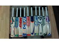 CRICKET BATS FOR SELL. ALL BRANDS AVAILABLE @ VERY REASONABLE PRICE. VERY THICK EDGE. SHORT HANDLE.