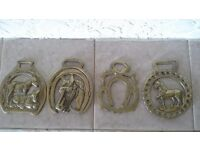 Antique collectible horse brasses