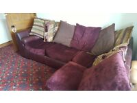 Corner double sofa bed DFS
