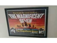 Magnificent Seven Film framed poster