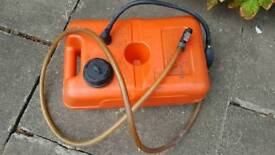 Fuel tank for boat with pump 12l