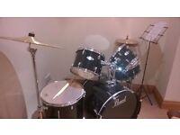 Pearl Target (Black) 7 piece drum kit - excellent condition