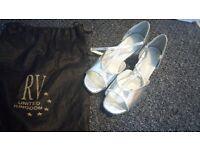Silver dance shoes size 5