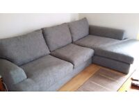 Grey corner sofa from next excellent condition