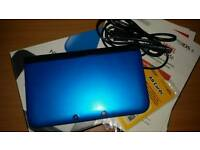 Blue 3ds xl with box and charger