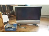 Sharp 26 inch TV, HDMI with remote