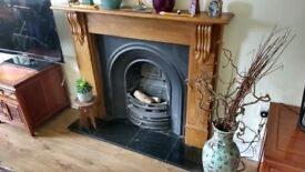 Cast iron fireplace in good condition
