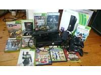 Xbox 360 slim 4gb with 250gb genuine hard drive and kinetic