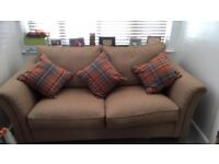 Next tweed sofa, practically new cost over a grand